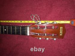 Rare Vintage Nice 70s Global & Harmony Acoustic Sunburst Parlor Guitar Korea