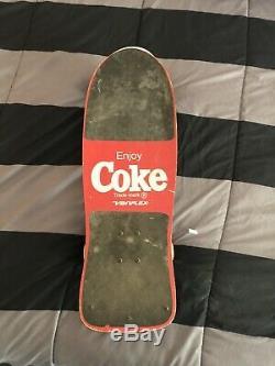 Rare Vintage Skateboard Variflex Coke Max Headroom. Nice