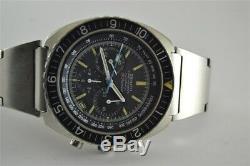 Rare Zenith El Primero Pilot Diver Automatic Chronograph 3019phc 31 Jewels Nice
