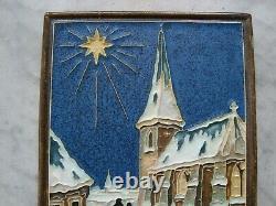 Rare, nice Royal Delft Cloisonne tile christmas, kerstmis 1946, porcelijne fles