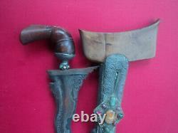 Rare nice and antique buginese keris silver naga siluman sword bali knife bgs 8