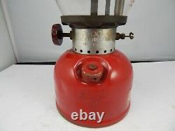Rare vintage COLEMAN Canada Model 200 GAS LANTERN 9-62 Nice with RED SUNRISE GLOBE