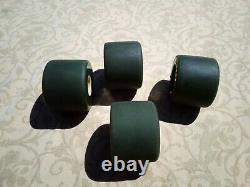 Real Deal Vintage 1978 Kryptonics C65 skateboard wheels dark green rare, nice