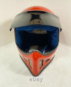 Simpson M52 vintage off-road helmet 7 80s VINTAGE Rare Red. NICE