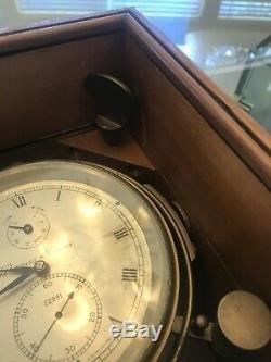 THOMAS MERCER Marine Chronometer 22891 Vintage Rare Brass Tested Working Nice