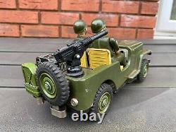 TM Toys Japan Military Jeep Nice Rare 1960s Item