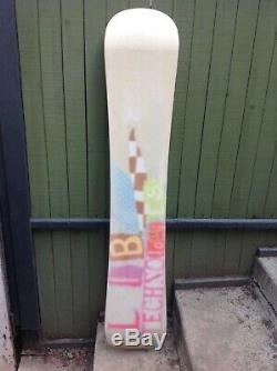 VINTAGE RARE NICE Lib Tech Technologies Emma P Peel 158 cm Snowboard
