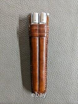 VINTAGE WW2 Filipino fighting Balisong Knife with Leather Case Very Nice! Rare