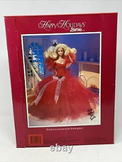 VTG Barbie Happy Holidays Special Edition 1988 Barbie Doll Rare Very Nice