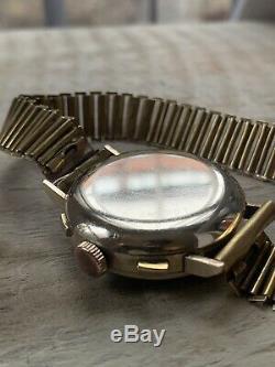 Very Rare 1941 Nice Watch Chronograph Landeron 52 Column Wheel Vintage Antique