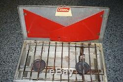 Vintage 1963 Coleman 442 Aluminum 2 Burner Camp Stove Nice Working Rare