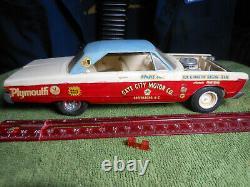 Vintage AMT/MPC, 125, Built Rare, 66 Plymouth Fury, Drag Car, Sox N Martin, Nice