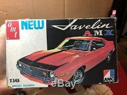 Vintage AMT T345 1974 AMC Javelin AMX Super Rare VERY NICE KIT unbuilt unpainted
