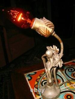 Vintage Art Deco Lady Lamp 1930's Nice Rare
