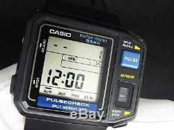Vintage Casio Digital Watch Pulsecheck 509 Jp-100w Retro Nice Rare LCD Memory