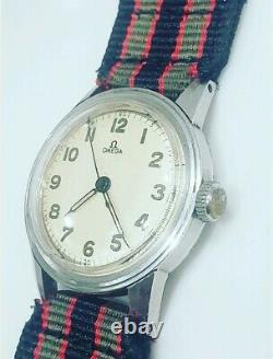 Vintage Omega WWII Military Cal 310 (R17.8) Mens 1939 Manual Watch Nice Rare
