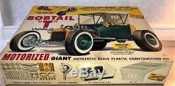 Vintage RARE Lindberg Giant Scale BOBTAIL T Ford Hot Rod Motorized car Kit NICE