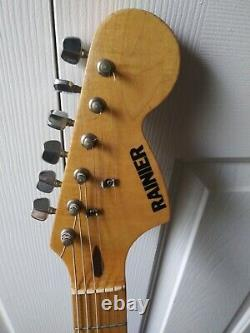 Vintage, Rare, 1980s RAINIER, Japan Strat Stratocaster copy, original, Nice