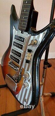 Vintage Rare 60s Silvertone Sharkfin Electric Guitar 759 1437 Super Cool n Nice