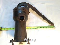 Vintage Rare Cast Iron Hand Well Pump WithDragon Water Spout Great Detail. V/Nice