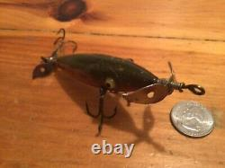 Vintage & Rare F. C. Woods Expert Minnow in nice color c. 1906 in good shape