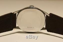 Vintage Rare Nice Classic Oversize 37mm Mechanical Men's Swiss Watch Doxa