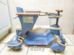 Vintage Rare Taylor Tot Metal Stroller Walker Fenders Original Nice Condition
