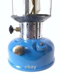 Vintage Sears 4/65 Blue Black Gas Lantern 476.74060 ORIG GLOBE Coleman NICE Rare