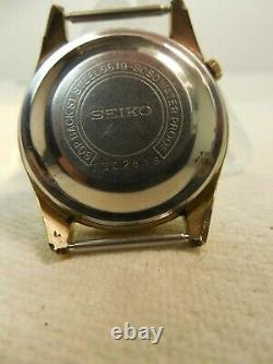 Vintage, Seiko 5, Sportsman, 21 J. Automatic Watch, Rare, Nice, 6619-8050, Japan