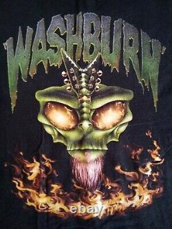 Vintage Washburn Dime Shirt size XL RARE PANTERA Dimebag Darrell 90s NICE METAL