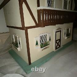 Vtg Albert Neely Hall Chalet Doll House1970s Full Kitchen and Bathroom RARE NICE