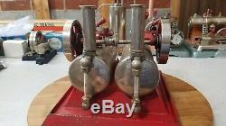 WOW! Antique Rare 1926-30. Empire Twin Cylinder Steam Engine B-42. Very Nice