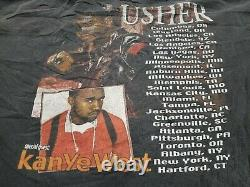 XL Vintage 00s 2004 USHER CONFESSIONS TOUR KANYE WEST Shirt RARE NICE FADE