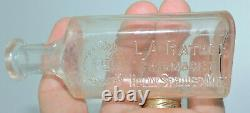 XXX Rare Original L. A. Rather Pharmacist Bottle Holly Springs, Miss. Nice